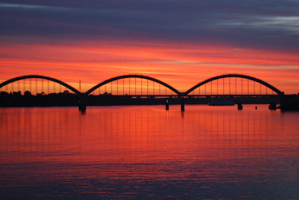 Sunset on the Volga, Russia, kindly shared by Dr. Robert Gloster, former WAL student