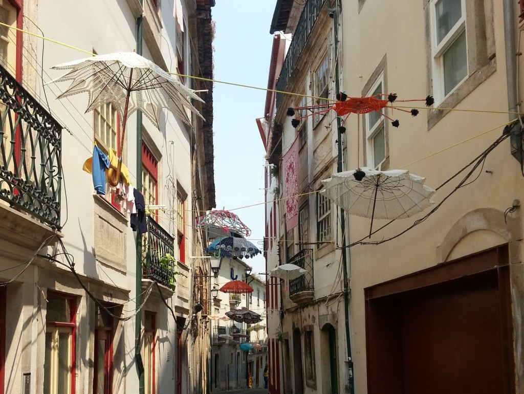 Umbrellas in Coimbra, Portugal, Credit- Nell Gross