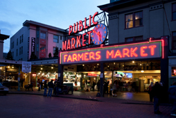 Pike Place Market at Dusk